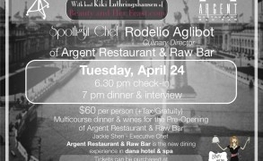 Now on Sale…Spotlight Chef Rodelio Aglibot at Argent
