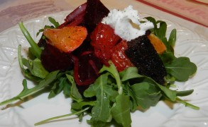 Roasted Beet Panzanella with Blood Orange Vinaigrette